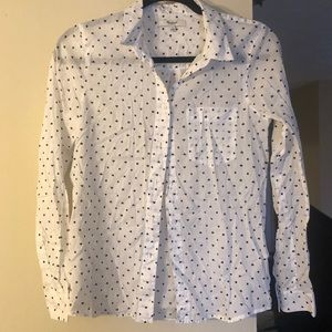 Madewell heart patterned button-up